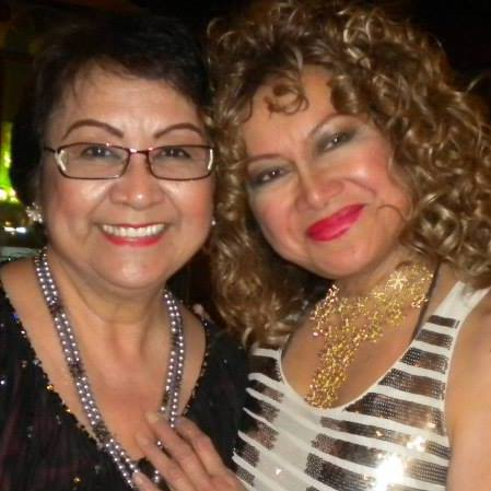 tessie with her friend- hollywood singer lou baron