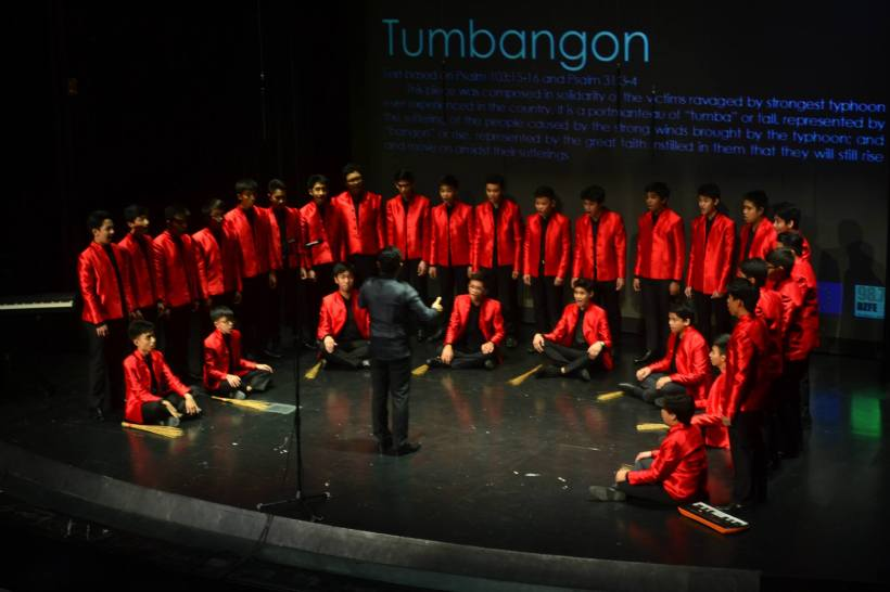 Boscorale's Tumbangon composed by Eudenice V. Palaruan while Hinbarra (Irish) is from Irish composer Michael McGlynn. — at FEU Auditorium.
