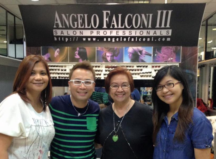 MR. ANGELO FALCONI WITH MS. TESSIE LAGMAN AND OTHER CLIENTS