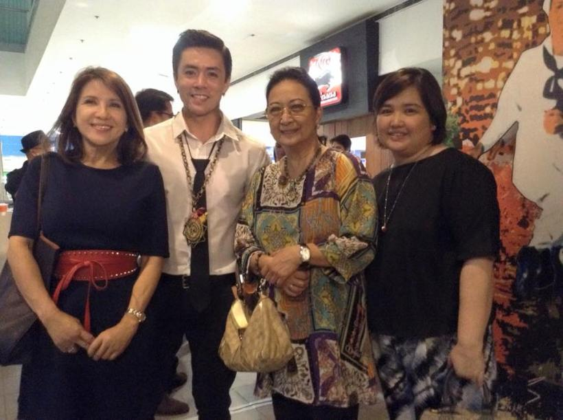 chamee raymundo, nina raymundo (lance's mom), lance and a friend