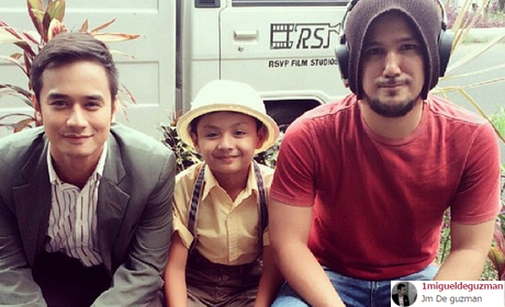 jm with child actor akihira and director dondon santos