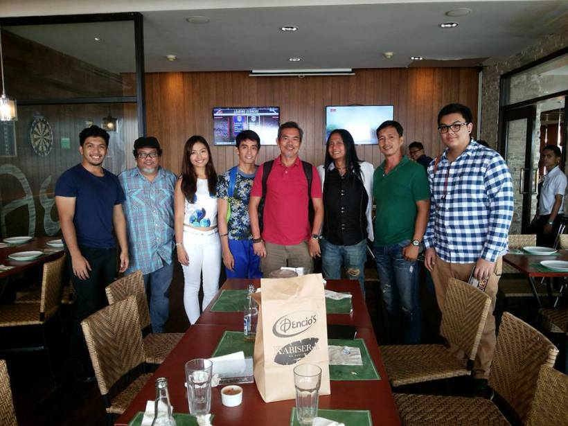 christian lat (first from left) and direk arnel's pool of actors and creative team