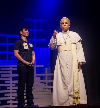 Vince as the older Pope Francis with Patrick Libao