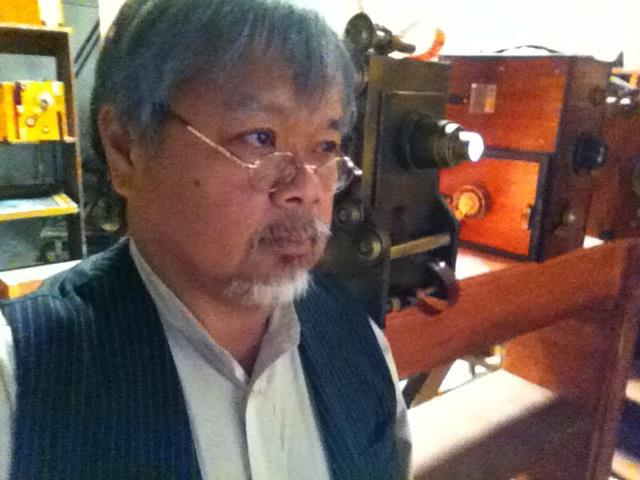 "sir abe grew his beard long in the film ""kamera obskura"""
