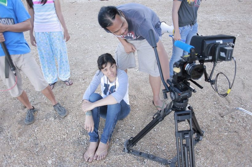 young female indie film director- a woman at that- ms. ara chawdhury takes a shot, with cinematographer christian linaban