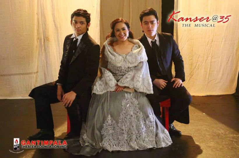 "michael pangilinan, myramae menesses and jacob benedicto in ""kanser, the musical"""