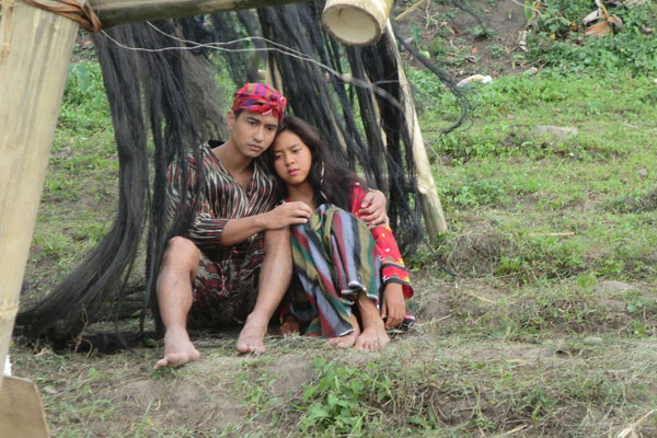 "miss mara lopez and handsome rk bagatsing in ""k'na: the dream weaver"""