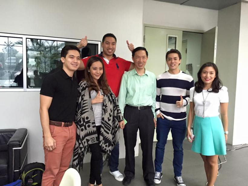 LANCE WITH SOME MEDIA PEOPLE OF NET 25 CHANNEL AND OTHERS FROM NACIONALISTA PARTY
