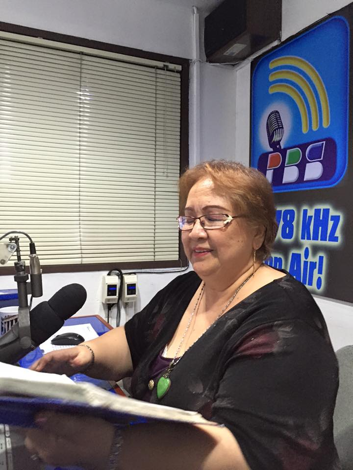 "THE MANY HAPPY MOODS OF MS. TESSIE LAGMAN-BALBOA IN HER RADIO PROGRAM ""SAMA-SAMA, SALO-SALO"""