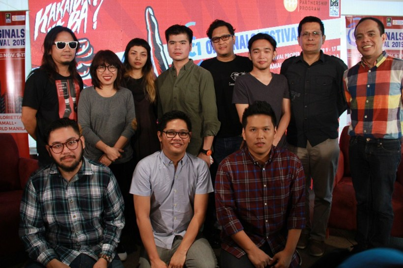 Cinema One channel head Ronald Arguelles (Rightmost) with the Cinema One Originals 2015 festival filmmakers