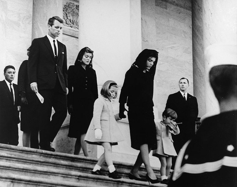 John's family during his funeral