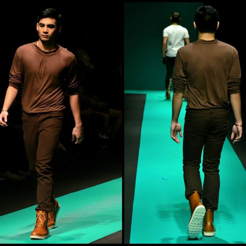 elites model paul dominic aquino in philippine fashion week