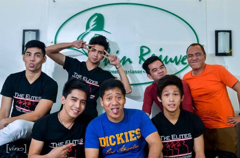 """the """"elites hearthrob"""" endorses a beauty clinic, with mr. martin and blogger sssip"""