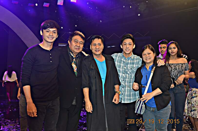 FROM LEFT TO RIGHT: PJ AGUILAR, VETERAN FILM DIRECTOR MARYO J. DELOS REYES, MR. MARTIN MARTIN, NIKKI CO AND NIKKI'S MOM