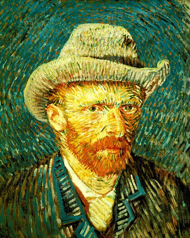 A8BKPA Netherlands Amsterdam Vincent van Gogh Museum Vincent van Gogh 1853 1890 self portrait in a grey felt hat 1887