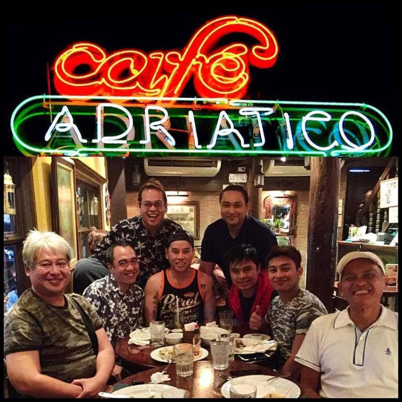 VINCE TANADA (WHO WON AT THE RECENT BROADWAYWORLD.COM AWARDS TREATS HIS MEDIA FRIEND AND DIRECTOR FRANNIEL ZAMORA FOR A GREAT DINNER