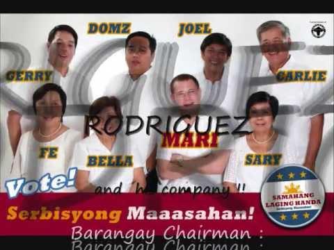 barangay chairman mari rodriguez and staff/family of barangay laging handa