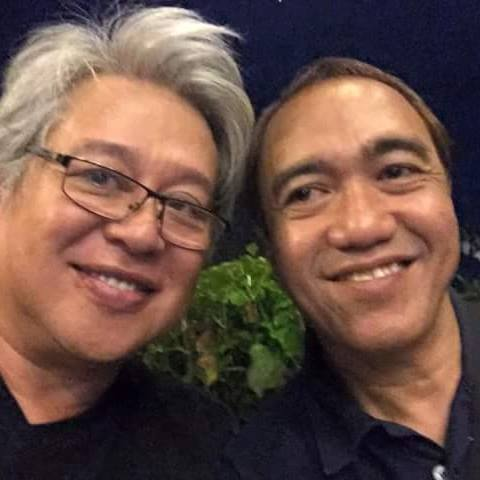 direk frannie with blogger robert silverio