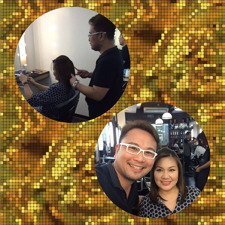 SI ANGELO KASAMA SI HONEYLET NU'NG PUMASYAL ITO SA SALON NIYA SA DAVAO CITY FOR A TRIAL MAKEUP.