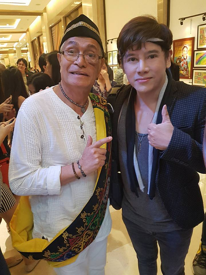 Master theater actor/director vince tanada with theater icon Frank Rivera